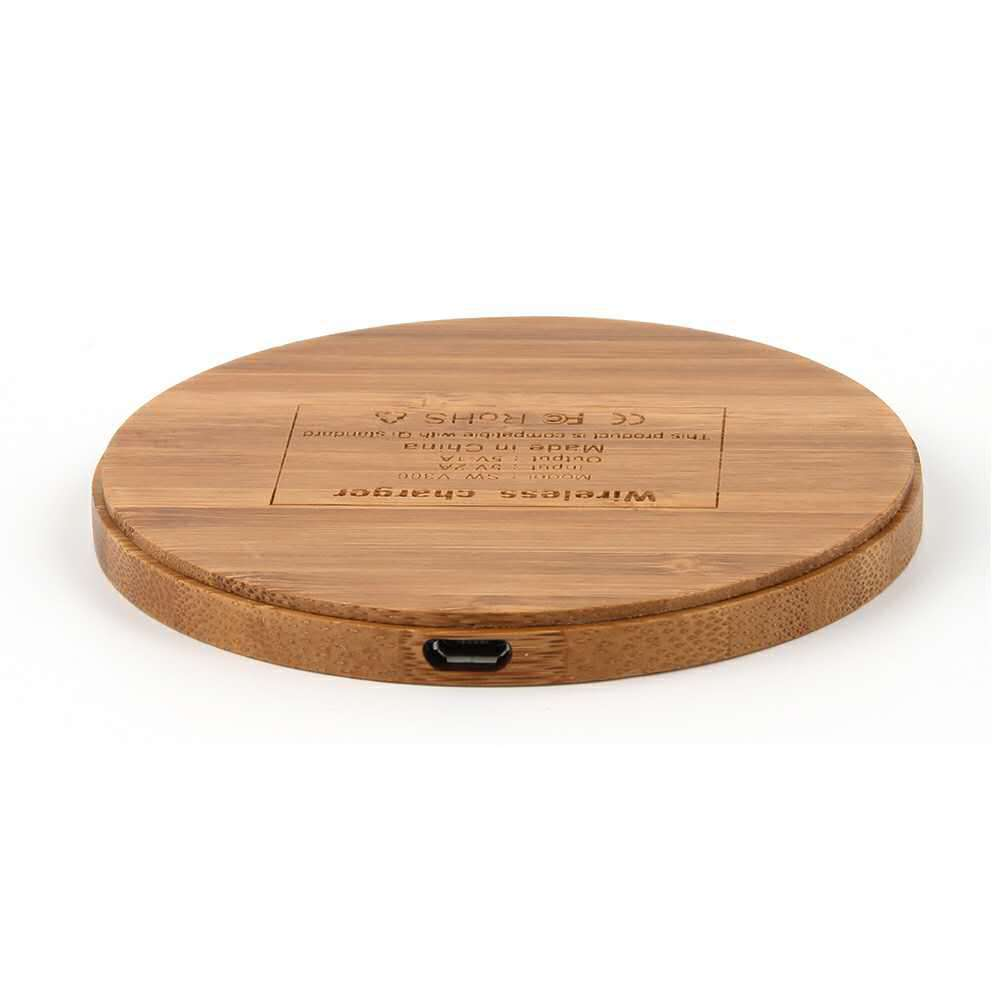 Round Bamboo wireless charger