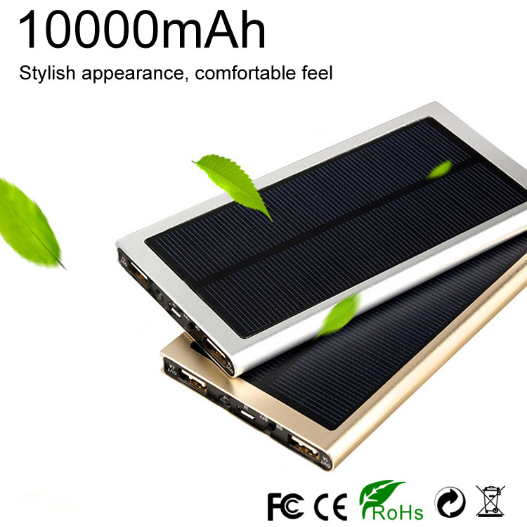 10000mAh solar charger power bank